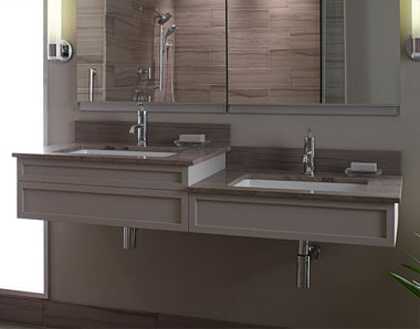 Cantilevered Sinks
